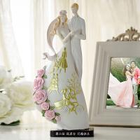 高档实用*摆件工艺礼品结婚礼物创意新婚庆闺蜜朋友家居装饰品 金色爱情故事+产品上刻字