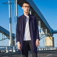 【2件2.5折到手价:162.25,4月10日0点】MECITY男装春季时尚立领风衣外套韩版潮流