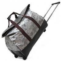 花纹大容量旅行手提行李包 男女韩版拉杆包 箱包 大