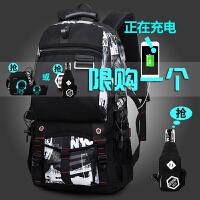 轻便背包双肩包男便携书包学生电脑包大学生男士旅行包大容量