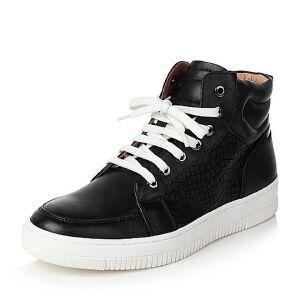 Teenmix/天美意冬专柜同款打蜡牛皮舒适平跟男低靴65H43DD6