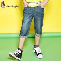 【3件3折:113.7元】暇步士童装男童短裤夏装新款大中童七分裤子儿童牛仔七分裤