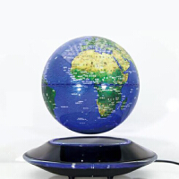 磁悬浮地球仪摆件大号黑科技创意夜灯学生用家居摆设办公室装饰品 8寸飞碟磁悬浮 蓝色