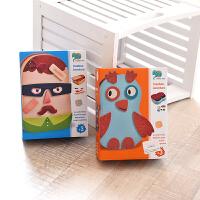 这个很好玩 儿童磁力拼图玩具 铁盒