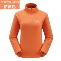 户外抓绒外套男女上衣秋冬跑步运动摇粒绒套头内胆加厚保暖绒衣服