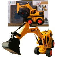 车模型 儿童玩具遥控工程车 挖土机模型玩具