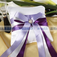 三八妇女节结婚礼物婚庆用品婚礼道具戒托交换戒指戒枕 紫色丝带