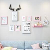 北欧风格墙面装饰创意墙上墙壁装饰挂件家居装饰ins风相框组合墙