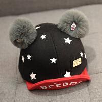 宝宝帽子男童0潮1-3岁2韩版婴儿鸭舌帽秋冬季儿童棒球帽小孩可爱 均码