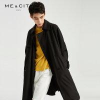 【2件2.5折到手价:243.75,4月10日0点】MECITY男装春季新款时尚印花宽松风衣韩版潮流外套