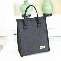 时尚牛津布防水加厚饭盒袋带饭手提袋包便当袋包早餐铝箔保温袋学生午餐包 深灰色