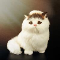 仿真动物模型小猫咪儿童动物毛绒玩具会叫的猫玩偶仿真猫咪公仔