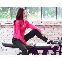 女子跑步罩衫健身衣瑜伽服速干长袖运动休闲连帽外套上衣 玫红色 罩衫