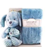 cuddle up儿童动物毛毯 三件套礼盒装 毛毯 毛绒公仔 玩具 海外购