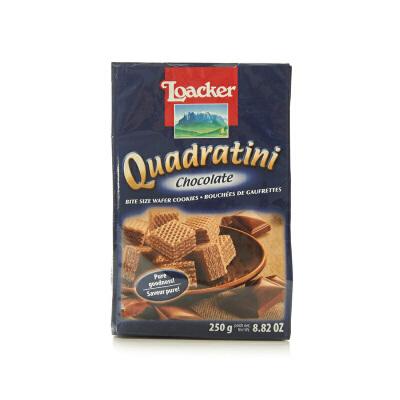 【中粮我买】莱家LOACKER粒粒巧克力味威化饼250g(奥地利进口 袋)