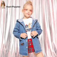 【2件5折:129元】暇步士童装春季新款女童外套时尚连帽牛仔风衣儿童风衣外套