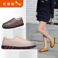 红蜻蜓女单鞋春秋新款正品休闲罗马风格柔软舒适户外女鞋