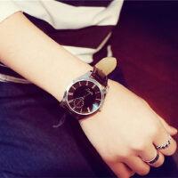 大表盘韩版时尚简约女表潮皮带男表学生休闲情侣超薄防水石英手表
