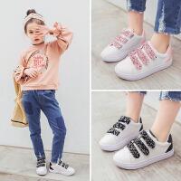 春季新款儿童板鞋2018女童韩版跑步鞋男童运动鞋中大童白色休闲鞋