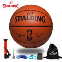 斯伯丁室内室外水泥地通用PU篮球NBA比赛用球 74-570Y