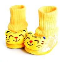 宝宝虎头鞋高筒加厚保暖冬季婴儿配唐装的红色学步周岁鞋0-1岁