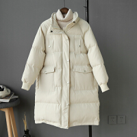 女中长款冬季新款韩版宽松羽绒棉衣学生加厚面包服外套