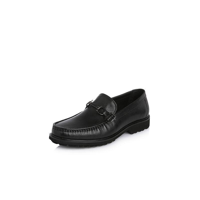 Belle/百丽2018春季新品专柜同款牛皮革男皮鞋5QS01AM8