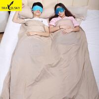 便携式单人双人午休睡袋内胆户外露营旅行睡袋薄款夏季
