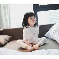 婴儿秋衣秋裤套装高腰护肚儿童6男孩小童睡衣5薄款0-3岁开档4lp
