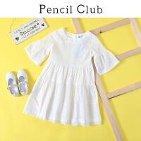 【2件3折:80.7】铅笔俱乐部童装2020夏装新款女童细线连衣裙中大童喇叭袖儿童裙子