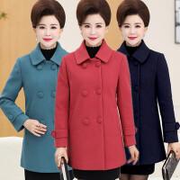 中老年秋装女外套短款40-50岁妈妈装毛呢外套新款长袖上衣冬