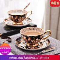 欧式骨瓷咖啡杯套装描金英式创意下午茶杯具红茶杯礼盒 自店营年货 1杯1碟1勺