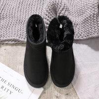 雪地靴女短筒冬季新款加绒短靴保暖加厚棉鞋子学生一脚蹬