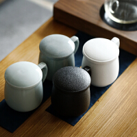 定制 过滤茶杯办公室陶瓷带盖马克杯创意家用个人定制主人喝水泡茶杯子