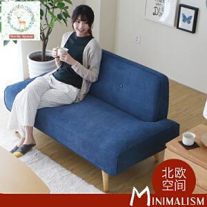 N空间 糖果色超舒适布艺沙发DS014 北欧日式小户型单人位双人位三人位