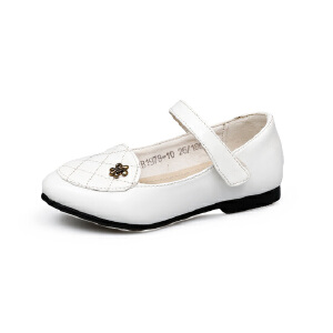 比比我女童皮鞋韩版宝宝豆豆鞋公主鞋春秋女童单鞋学生表演鞋