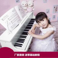 韩国进口61键宝宝儿童钢琴初学电钢琴木质早教玩具电子琴