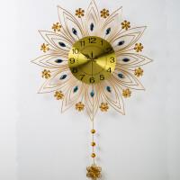 挂钟客厅欧式钟表现代简约创意壁挂家用静音时钟装饰挂表石英钟表 20英寸以上