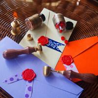 复古火漆印章套装 蜡印 封口图章 字母 祝福语 哈利波特印章