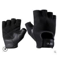 黑色短指手套半指单杠护掌运动手套健身手套男女器械训练防滑薄款透气