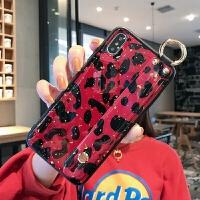 豹纹新款苹果X手机壳女6/6s/8/xr/xsmax支架iPhone7plus潮iPhonex