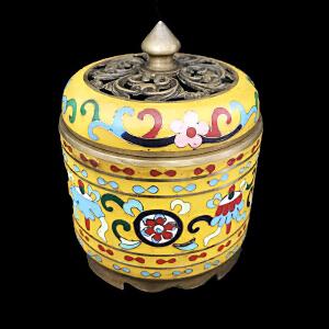 景泰蓝纯铜香炉