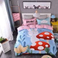 纯棉卡通四件套全棉儿童三件套1.2米床男孩女孩上下铺床笠床品
