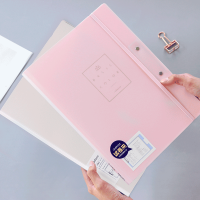 A3文件夹小学生用书夹子整理试卷夹塑料高中生卷子收纳多层资料册垫板多功能