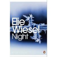 Night 英文原版 夜 奥普拉读书推荐 诺贝尔和平奖得主埃利・威塞尔自传:讲述了他在纳粹集中营中幸存的故事 企鹅经典封皮 平装