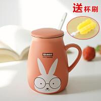 创意陶瓷杯带盖勺 马克杯 杯子水杯 咖啡杯情侣杯 牛奶杯