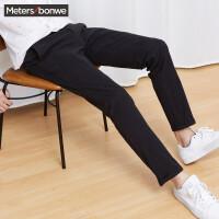 美特斯邦威旗下 4M裤子男士冬季净色长裤简约时尚百搭休闲裤