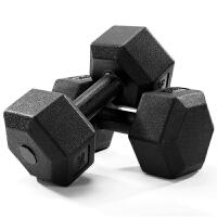 征伐 哑铃 男女环保六角包胶哑铃室内家用�C臂塑身健身器材
