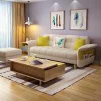 北欧布艺沙发床小户型客厅三人位整装组合可拆洗多功能两用沙发床 2米以上