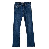 【2件2.5折到手价:49.8】美特斯邦威牛仔长裤女秋装新款水洗时尚修身学生复古街头风潮
